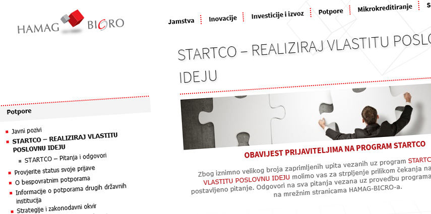 Vlada RH poduzetnicima daje 4.000 kn poticaja za izradu web stranice